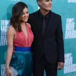 LUCY HALE AND CHRIS ZYLKA ARRIVE AT THE 2012 MTV MOVIE AWARDS IN UNIVERSAL CITY, CALIFORNIA
